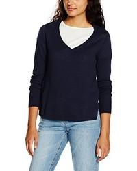 dunkelblauer Pullover mit einem V-Ausschnitt von Vero Moda