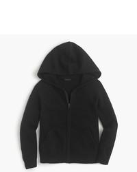 dunkelblauer Pullover mit einer Kapuze