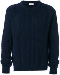 dunkelblauer Pullover von Saint Laurent