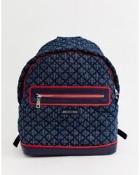 dunkelblauer Rucksack von Love Moschino