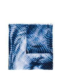 dunkelblauer Mit Batikmuster Schal von Faliero Sarti