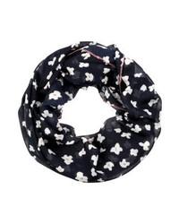 dunkelblauer Schal mit Blumenmuster von s.Oliver