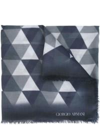 dunkelblauer Schal mit geometrischem Muster von Giorgio Armani