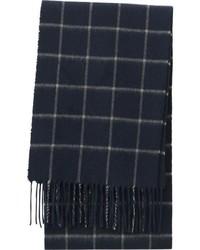 dunkelblauer Schal mit Karomuster