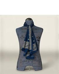 dunkelblauer Schal mit Paisley-Muster