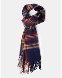 dunkelblauer Schal mit Schottenmuster von Asos