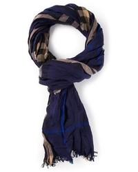 dunkelblauer Schal mit Schottenmuster von Burberry
