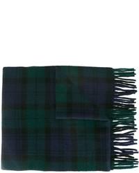 dunkelblauer Schal mit Schottenmuster von Polo Ralph Lauren