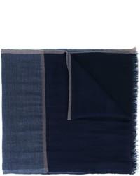 dunkelblauer Schal von Brunello Cucinelli