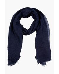 dunkelblauer Schal von Rick Owens