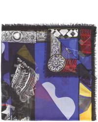 dunkelblauer Schal von Versace