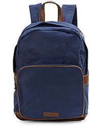 dunkelblauer Segeltuch Rucksack