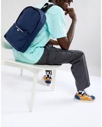 dunkelblauer Segeltuch Rucksack von ASOS DESIGN