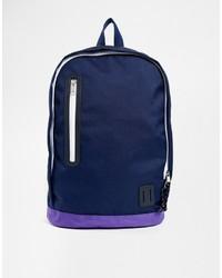 dunkelblauer Segeltuch Rucksack von Asos