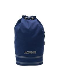 dunkelblauer Segeltuch Rucksack von Jacquemus