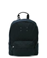 dunkelblauer Segeltuch Rucksack von Maison Margiela