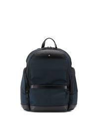 dunkelblauer Segeltuch Rucksack von Montblanc