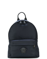 dunkelblauer Segeltuch Rucksack von Versace