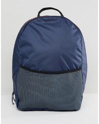 dunkelblauer Segeltuch Rucksack von Weekday