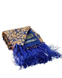 dunkelblauer Seideschal mit Paisley-Muster