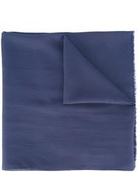 dunkelblauer Seideschal von Maison Margiela