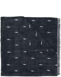 dunkelblauer Seideschal von Neil Barrett