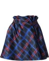 dunkelblauer Skaterrock mit Schottenmuster von Kenzo