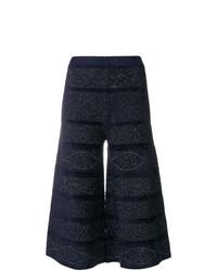 dunkelblauer Strick Hosenrock von D-Exterior
