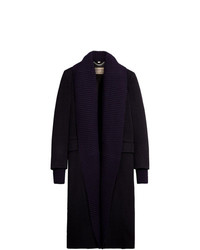 dunkelblauer Strick Mantel von Burberry
