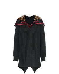 dunkelblauer Strick Oversize Pullover von Balenciaga