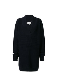 dunkelblauer Strick Oversize Pullover von Maison Margiela