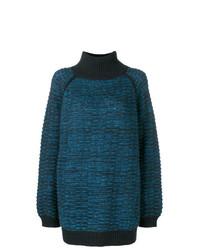dunkelblauer Strick Oversize Pullover von Marc Jacobs