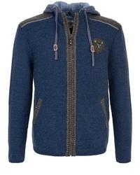 dunkelblauer Strick Pullover mit einem Kapuze von SPIETH & WENSKY