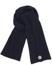 dunkelblauer Strick Schal