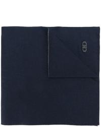 dunkelblauer Strick Schal von Salvatore Ferragamo