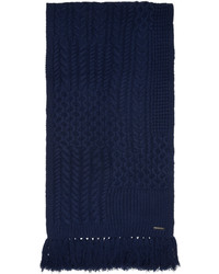 dunkelblauer Strick Wollschal von Burberry