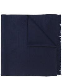 dunkelblauer Strick Wollschal von Emporio Armani