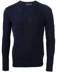 dunkelblauer Strickpullover von Polo Ralph Lauren