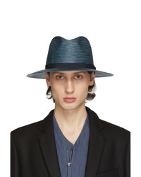 dunkelblauer Strohhut von Giorgio Armani