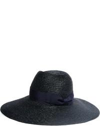 dunkelblauer Strohhut von Lanvin