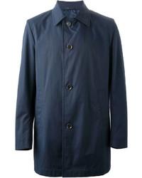 dunkelblauer Trenchcoat von Hugo Boss
