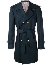 dunkelblauer Trenchcoat von Thom Browne