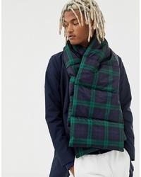 dunkelblauer und grüner Schal mit Schottenmuster von ASOS DESIGN