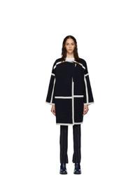 dunkelblauer und weißer Mantel von Chloé