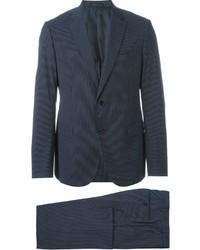 dunkelblauer vertikal gestreifter Anzug von Armani Collezioni