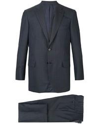 dunkelblauer vertikal gestreifter Anzug von Brioni
