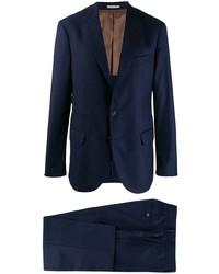 dunkelblauer vertikal gestreifter Anzug von Brunello Cucinelli