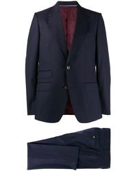 dunkelblauer vertikal gestreifter Anzug von Gucci