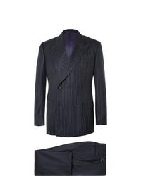 dunkelblauer vertikal gestreifter Anzug von Kingsman