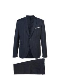 dunkelblauer vertikal gestreifter Anzug von Neil Barrett